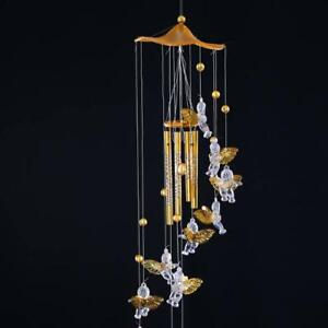 Wind Chimes Angel Cupid Amazing Tubes Bells Copper Hanging Dream Catcher Decors