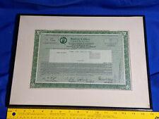 1987 Boston Celtics Stock Certificate Limited Partnership VTG Framed VTG Ad