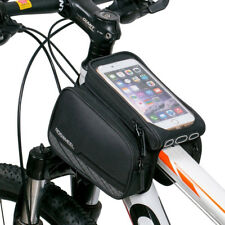 3 in 1 Bicycle Frame Bag Mobile Phone Holder Bike Front Top Tube Pouch Case