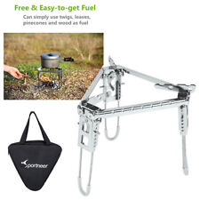 Outdoor Over Campfire Cooking Tripod Stand Stainless Steel FOLDABLE & ADJUSTABLE