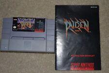 Raiden Trad (Super Nintendo SNES, 1991) Tested Working w Manual FREE SHIPPING***