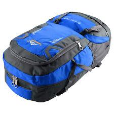 60l Waterproof Outdoor Climbing Travel Large Backpack Camping Rucksack Bag Blue