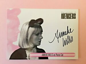 Anneka Wills as Pussy Cat The Women Of The Avengers Autograph Signed Card WAAW