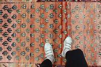 "Antique Handmade Vintage Azerbaijan Caucasian Tribal Carpet Area Rug 5'7''x3'3"""
