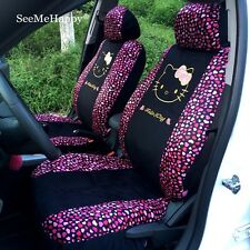 Car Seat Covers Rose Love Hello Kitty Cartoon Universal Car Interior 10 Pieces
