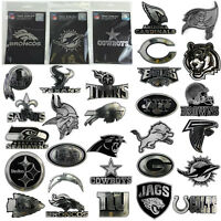 NFL Team Pick Your Team Logo Plastic Chrome Car Truck Auto Emblem Sticker Decal