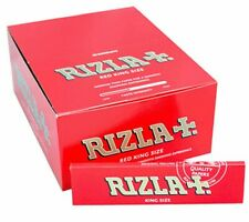 Rizla Red King Size Rolling Paper Slim - 50 BOOKLETS - Cigarette Smoking Rolls