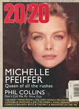 MICHELLE PFEIFFER ~~ UK Time Out 20/20 Magazine ~ December 1989 ~ 12/89 ~~ F-3-1