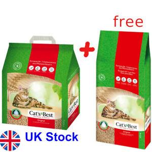 60L Cat's Best Original Cat Litter 40l + 20l  Compostable  100% biodegradable