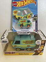 Jada Toys Scooby Doo Mystery Machine 1:32 Diecast Car & Hot Wheels Mystery Van