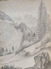 Près de Saint-Gervais-les-Bains 1861 Mont-Blanc Haute-Savoie