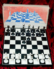 Chess set with folding board in original box Vintage 1980
