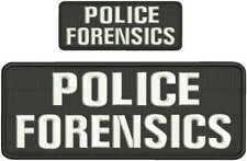 Police Forensics embroidery patch 4x10 and 2x5 hook