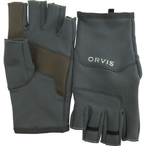 NEW SIZE L ORVIS FINGERLESS STRETCH FLEECE GLOVES - FREE US SHIPPING