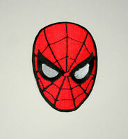 Official Marvel Comics Spider-Man Mask Iron-On Cloth Jacket Patch New