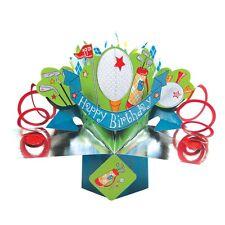 Golf Birthday Pop-Up Greeting Card Original Second Nature 3D Pop Up Cards