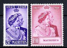 X16: Mauritius Postfrischer Satz Silver Wedding 1948