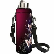 Red Butterfly 750ML Water Sport Bottle Cover Pouch Insulated Soft Sleeve Holder