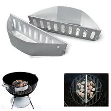 Outdoor Cooking Tool BBQ Grill Basket 2 Charcoal Holders Wood Chunks Kettle RV