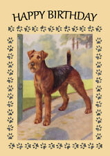 AIREDALE TERRIER DOG BIRTHDAY GREETINGS NOTE CARD