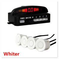 White Car SUV Reverse Radar Rear 4 Sensors Audio Sound Alert Alarm System