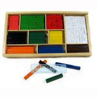 308pcs Wooden Cuisenaire Rods Boxed Math Teaching Counting Aid Learning Toy