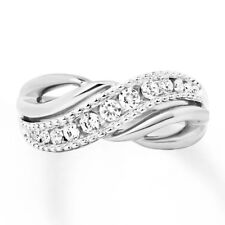 Sterling Silver .925 CZ Right Hand Infinity Fashion Women's Ring Band Size 4-10