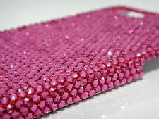 Pink Fuchsia Bling Swarovski Elements & Crystals White Case Cover Skin iPhone 7