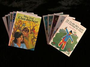 # lot 11 livres - LE CLAN DES SEPT - Enid Blyton - Bibliothèque Rose