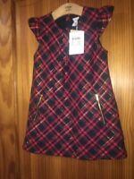 POLARN O. PYRET GIRLS CHECKED RED DRESS AGE 3-4 YEARS TARTAN
