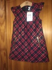 POLARN O. PYRET GIRLS CHECKED RED DRESS AGE 3 - 4 YEARS