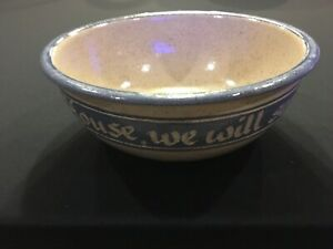 """Pottery bowl inscribed """"As for Me and My House, we will serve the Lord"""""""