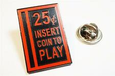 Quarter Slot Retro Coin Slot Arcade Video Game Pinball Hat Jacket Tie Lapel Pin