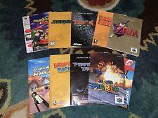 Nintendo 64 N64 Manual Lot of 9 Booklets Pokemon Mario Kart 64, Zelda++