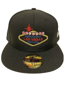 Las Vegas Sign Custom New Era 59Fifty Black 7 5/8 Fitted Hat Cap New Rare