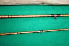 "9'-6"" Unnamed 2 piece Split cane dry fly fishing rod in fine original condition"