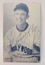 autographed 1928 PCL Exhibit DUDLEY LEE Hollywood Sheiks baseball card