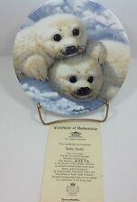 The Beauty of Polar Wildlife Baby Seals Royal Grafton Plate