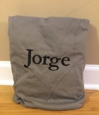 "NEW Pottery Barn Teen CHARCOAL Washed Twill 41"" LARGE Beanbag Cover ""Jorge"""
