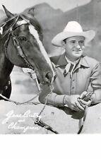 RPPC,Gene Autry and His Horse Champion,1950s