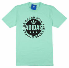 ADIDAS Circle Star Logo T-Shirt M Medium Easy Mint Green Black Ultra Boost NMD