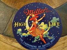 Rare Antique Miller High Life Old Porcelain Signs by Made Ande Rooney