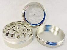 "3 Piece Clear See Through 1 3/4"" Herb, Spice or Tobacco Diamond Blade Grinder"