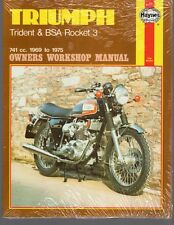 Triumph Trident & BSA Rocket 3 1969 to 1975 Owners Workshop Manual by Haynes