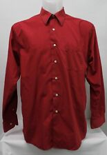 Haggar Men's Long Sleeve Red Shirt Size L (16-16.5) 34/35