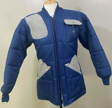 New listing Vintage Bob Allen Mens Blue Quilted Hunting Shooting Puffer Jacket Sz S