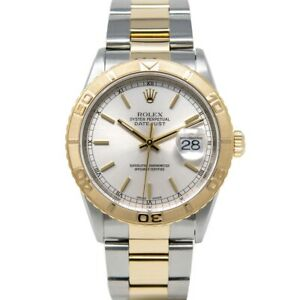 """Rolex Datejust Turn-O-Graph """"Thunderbird"""" 16263 Watch - Silver Dial, Oyster"""