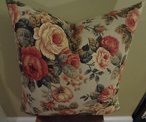 Decorative Pillow Cover Beautiful Red Roses on Powder Blue Background Floral
