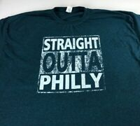Straight Outta Philly T-Shirt Mens 2XL/3XL City NFL Football Philadelphia Eagles