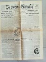 Fac similé Journal LE PETIT PARISIEN 16 MAI 1917